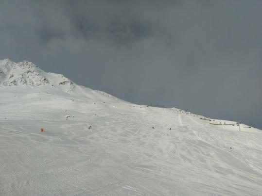 Gegen Mittag wurde es auch zweiten Tag in Richtung Gletscher wieder etwas schlechter.