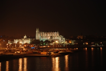 Palma - Kathedrale am Abend