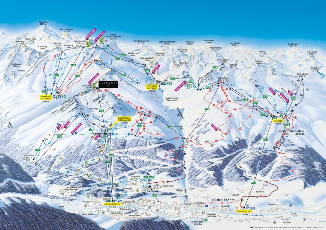 Skikarte Sölden
