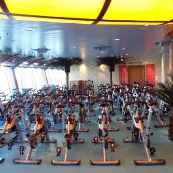 Spinning im Fitnessbereich