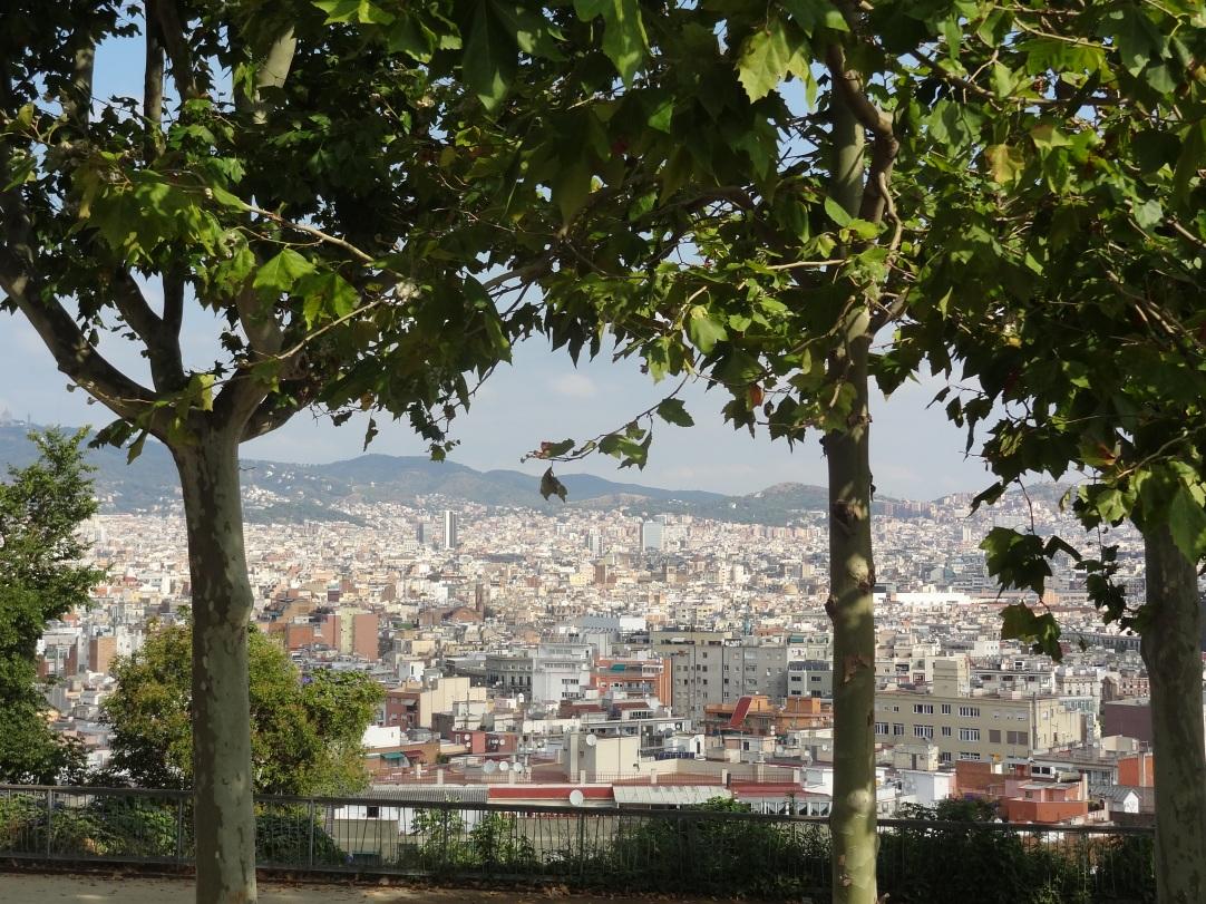 Barcelona - Blick vom Olympia Berg Montjuic