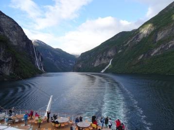 Geiranger - Auslaufen aus dem Fjord