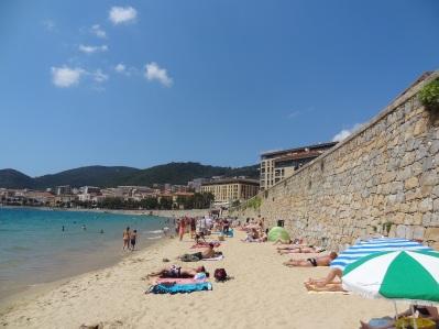 Korsika- Stadtstrand St. Francis