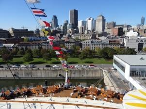 Montreal - Blick von Bord über die Stadt