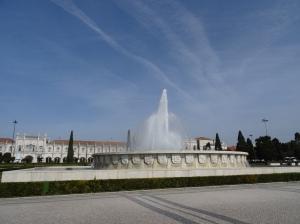 2. Tag Lissabon - Kloster und Springbrunnen
