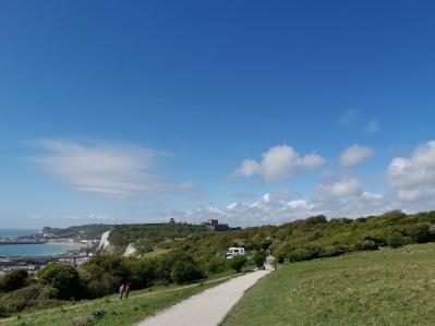 Zurück zum Ausgangspunkt mit Blick auf Dover Castle