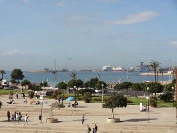 Blick auf Palmas Hafen
